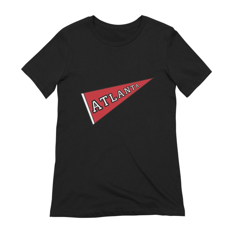 Atlanta Pennant Women's Extra Soft T-Shirt by ATLBrandBox's Artist Shop