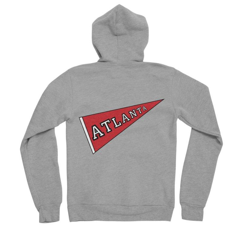 Atlanta Pennant Men's Sponge Fleece Zip-Up Hoody by ATLBrandBox's Artist Shop