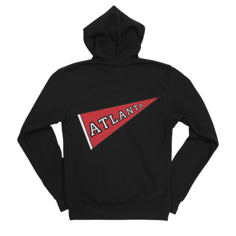 Atlanta Pennant Women's Sponge Fleece Zip-Up Hoody by ATLBrandBox's Artist Shop