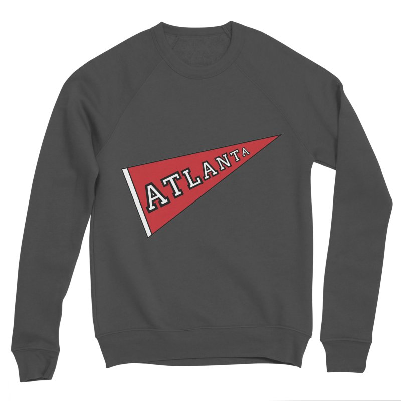 Atlanta Pennant Men's Sponge Fleece Sweatshirt by ATLBrandBox's Artist Shop