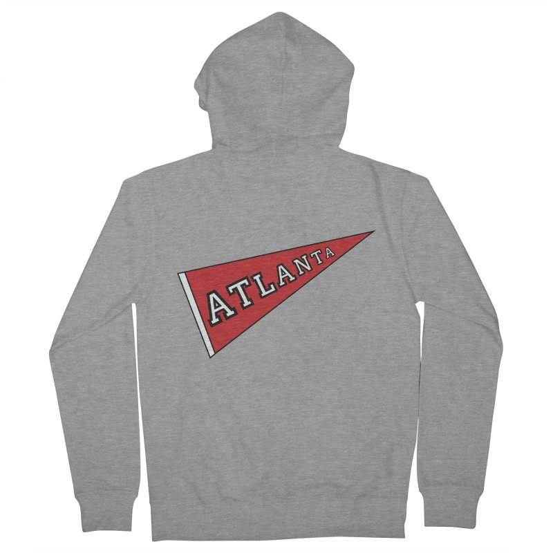 Atlanta Pennant Men's French Terry Zip-Up Hoody by ATLBrandBox's Artist Shop