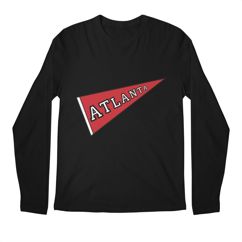 Atlanta Pennant Men's Regular Longsleeve T-Shirt by ATLBrandBox's Artist Shop