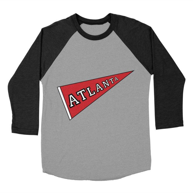 Atlanta Pennant Men's Baseball Triblend Longsleeve T-Shirt by ATLBrandBox's Artist Shop