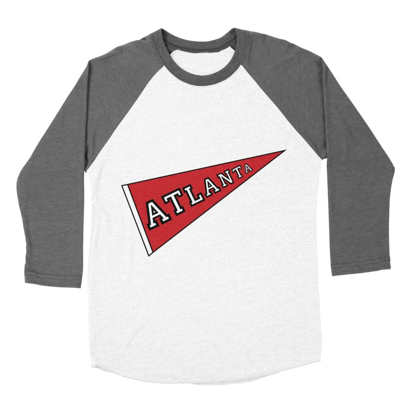 Atlanta Pennant Men's Baseball Triblend Longsleeve T-Shirt by ATLBrandBox's Artist Shop