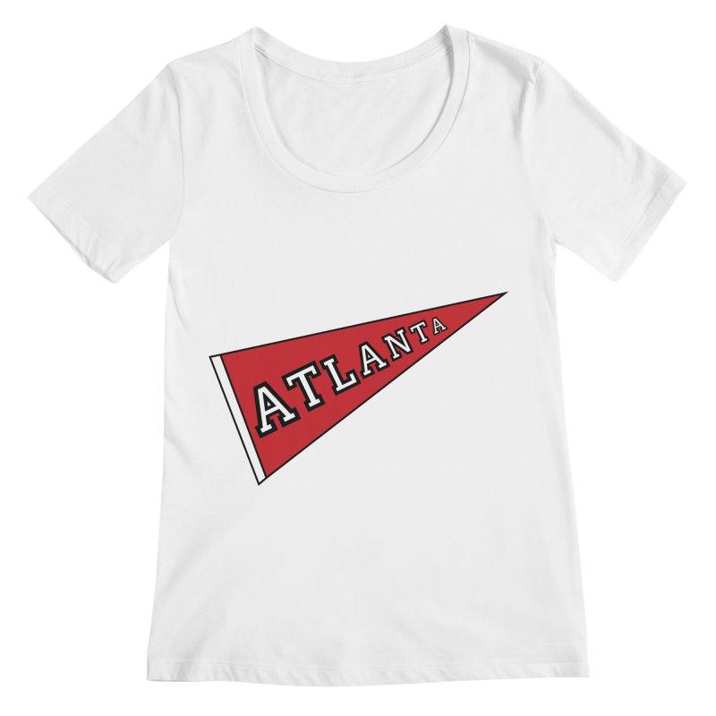 Atlanta Pennant Women's Regular Scoop Neck by ATLBrandBox's Artist Shop