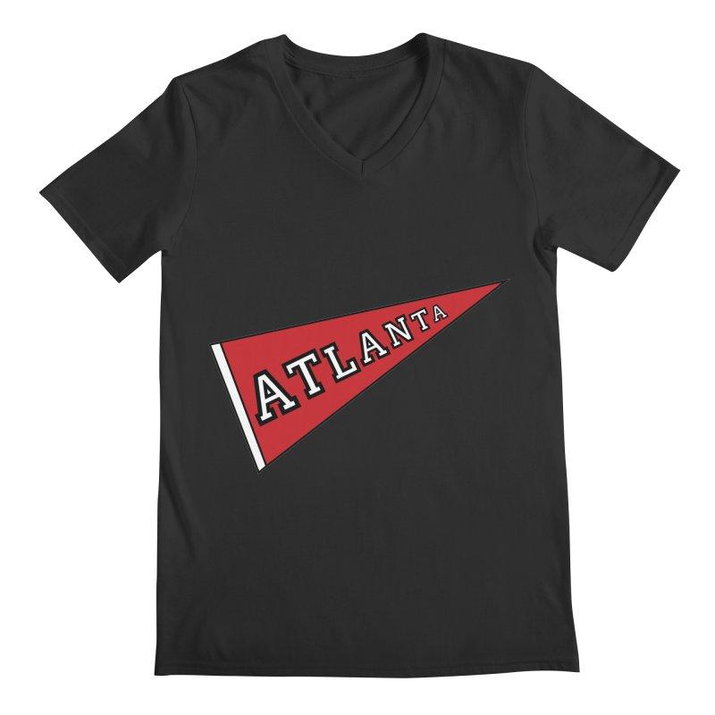 Atlanta Pennant Men's Regular V-Neck by ATLBrandBox's Artist Shop