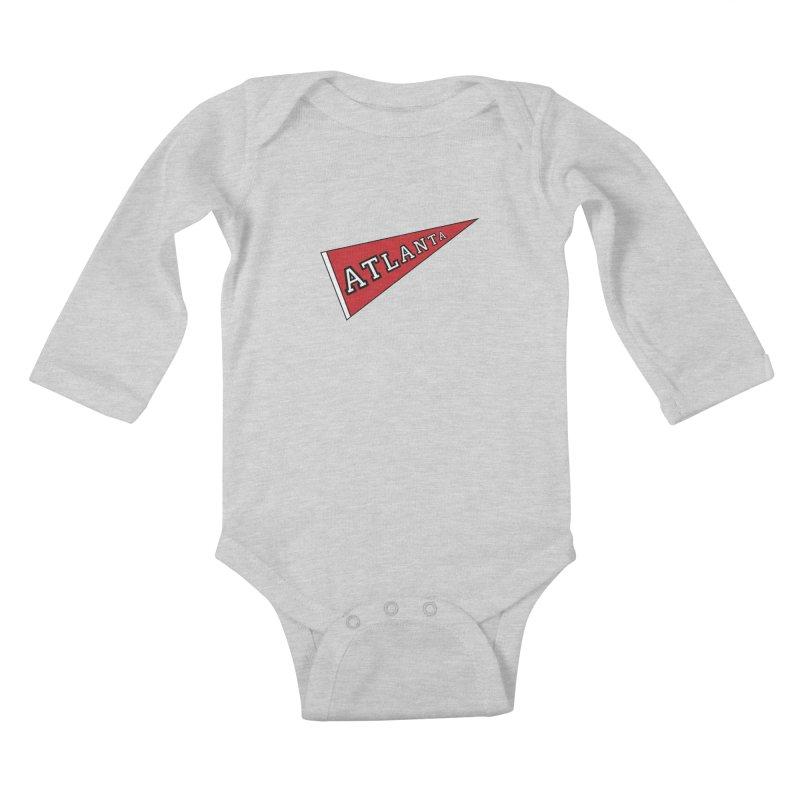Atlanta Pennant Kids Baby Longsleeve Bodysuit by ATLBrandBox's Artist Shop