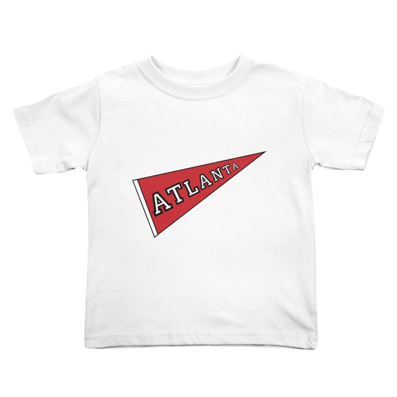 Atlanta Pennant Kids Toddler T-Shirt by ATLBrandBox's Artist Shop