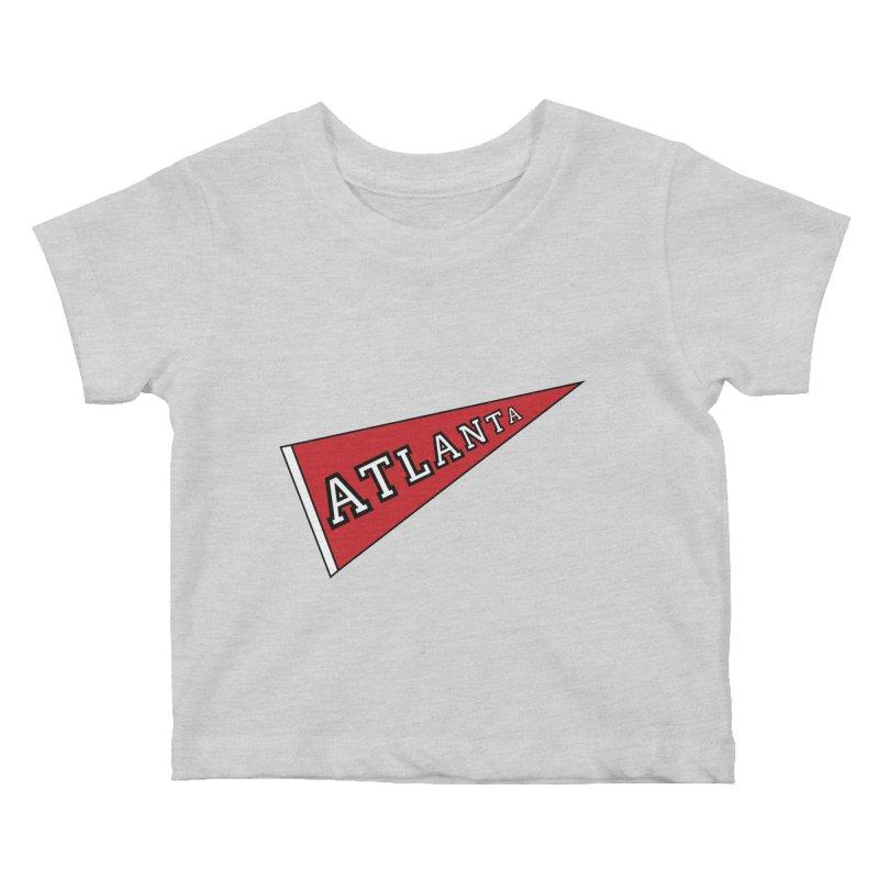 Atlanta Pennant Kids Baby T-Shirt by ATLBrandBox's Artist Shop