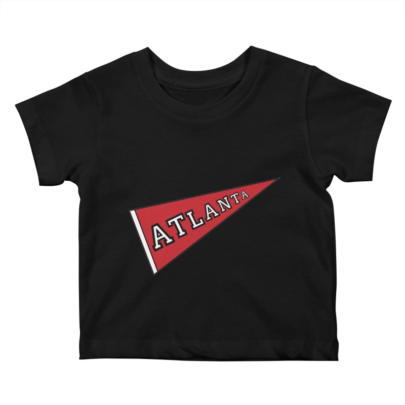 Atlanta Pennant Kids Baby T-Shirt by ATLBrandBox's Artist Shop