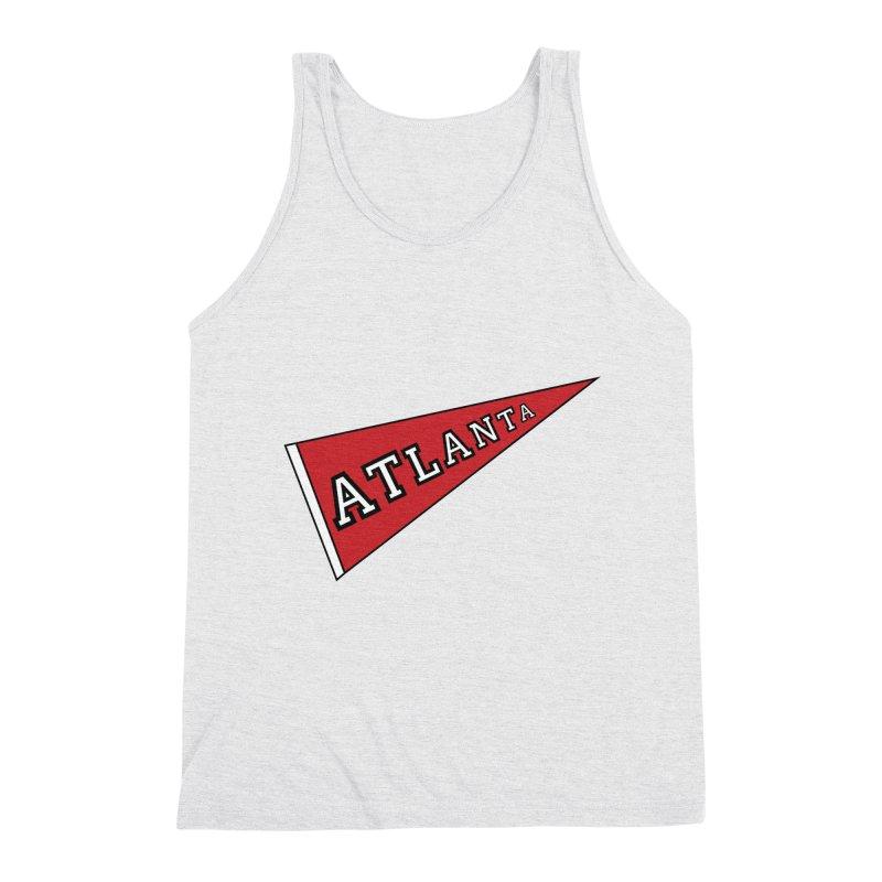 Atlanta Pennant Men's Triblend Tank by ATLBrandBox's Artist Shop
