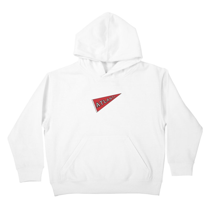 Atlanta Pennant Kids Pullover Hoody by ATLBrandBox's Artist Shop