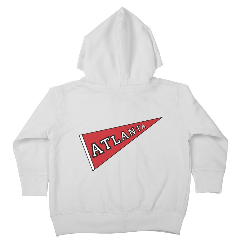 Atlanta Pennant Kids Toddler Zip-Up Hoody by ATLBrandBox's Artist Shop