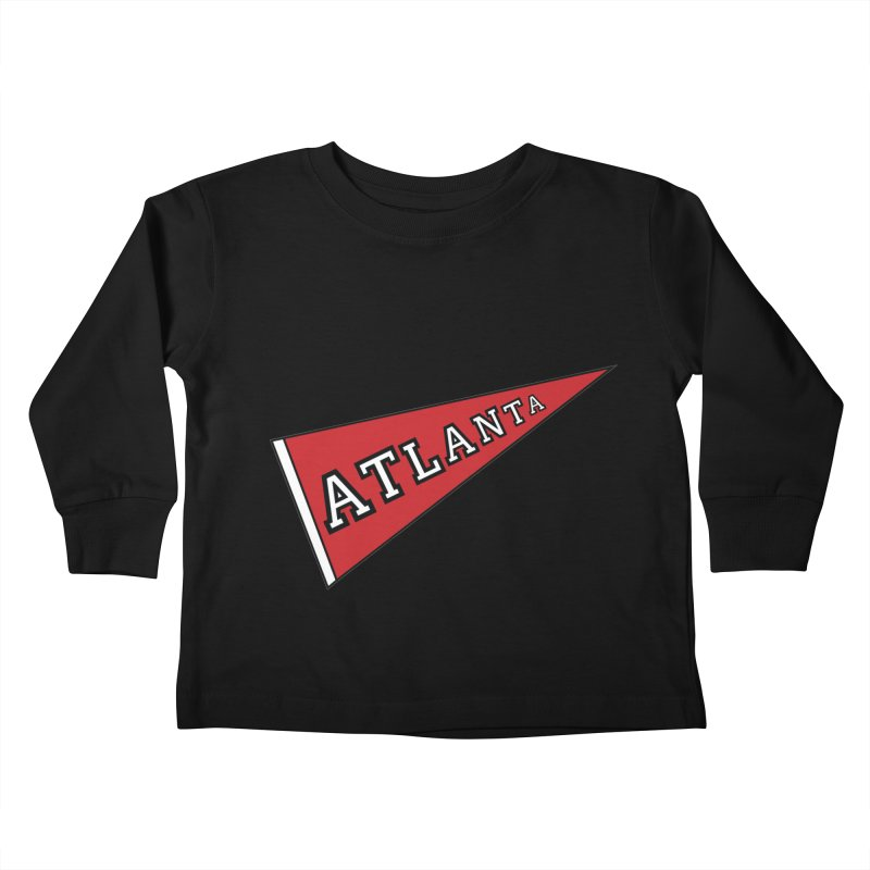 Atlanta Pennant Kids Toddler Longsleeve T-Shirt by ATLBrandBox's Artist Shop