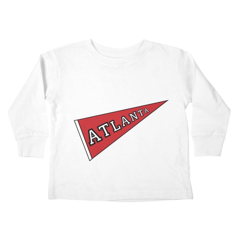 Atlanta Pennant Kids Toddler Longsleeve T-Shirt by ATLBrandBox's Artist Shop