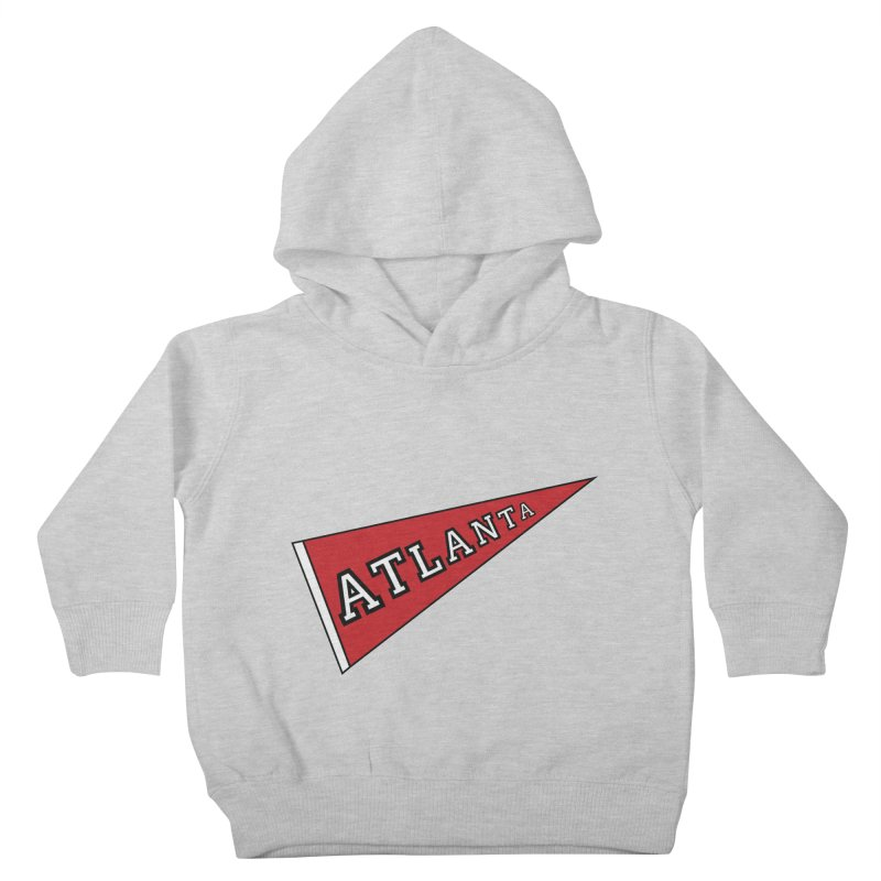 Atlanta Pennant Kids Toddler Pullover Hoody by ATLBrandBox's Artist Shop