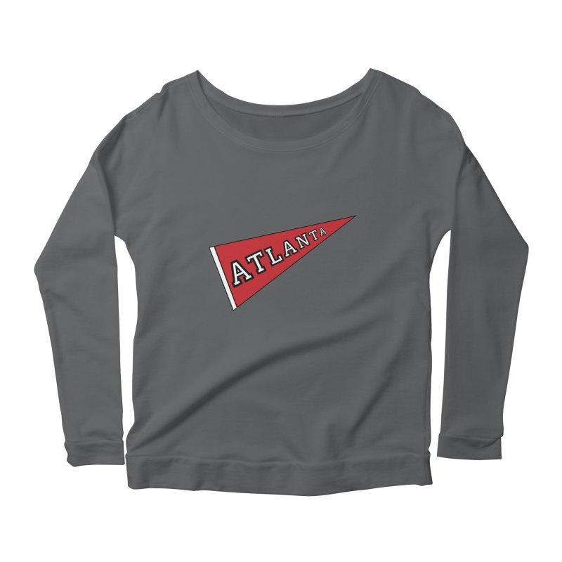 Atlanta Pennant Women's Longsleeve T-Shirt by ATLBrandBox's Artist Shop