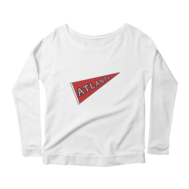Atlanta Pennant Women's Scoop Neck Longsleeve T-Shirt by ATLBrandBox's Artist Shop
