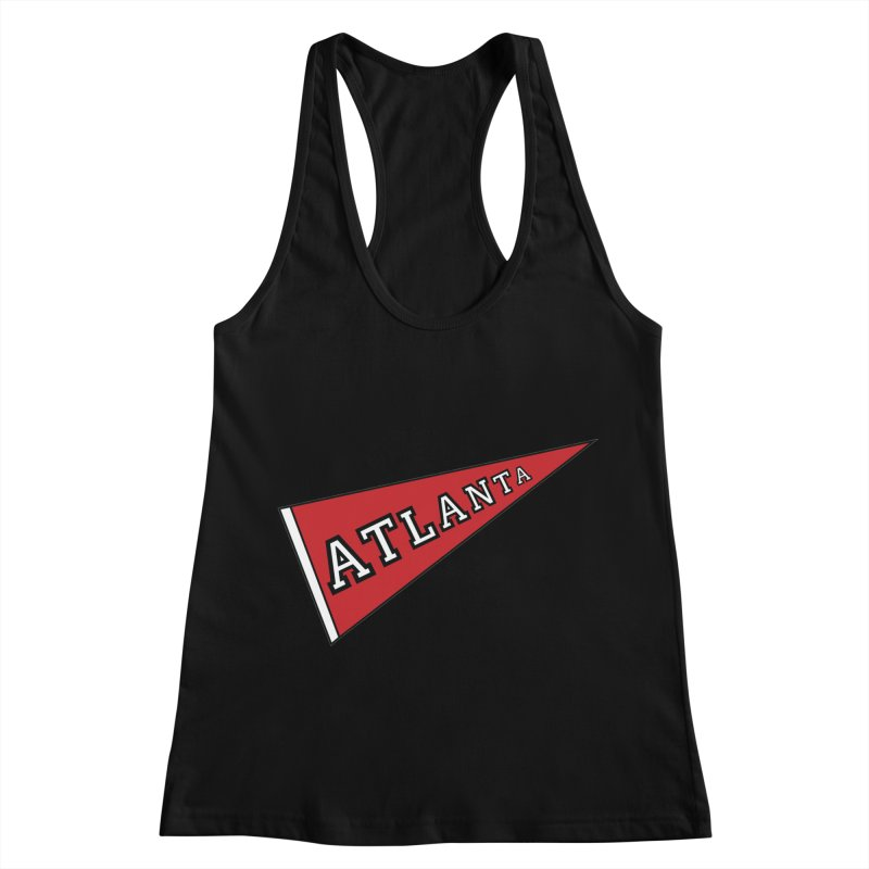 Atlanta Pennant Women's Racerback Tank by ATLBrandBox's Artist Shop