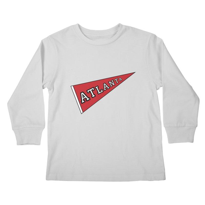 Atlanta Pennant Kids Longsleeve T-Shirt by ATLBrandBox's Artist Shop