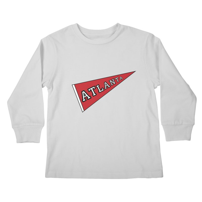 Atlanta Pennant Kids Longsleeve T-Shirt by ATLBrandBox's Artist Shop