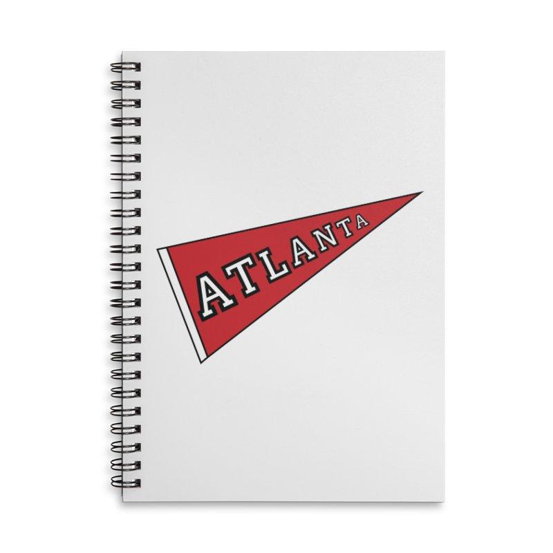 Atlanta Pennant Accessories Lined Spiral Notebook by ATLBrandBox's Artist Shop