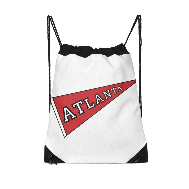 Atlanta Pennant Accessories Drawstring Bag Bag by ATLBrandBox's Artist Shop
