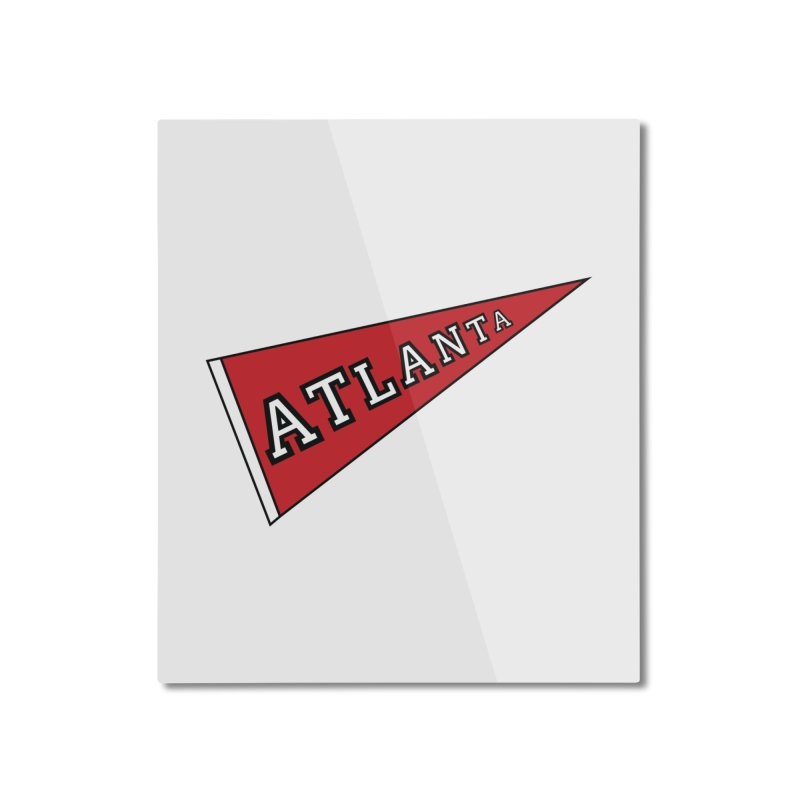 Atlanta Pennant Home Mounted Aluminum Print by ATLBrandBox's Artist Shop