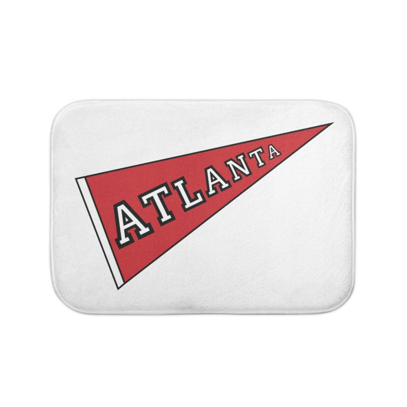 Atlanta Pennant Home Bath Mat by ATLBrandBox's Artist Shop