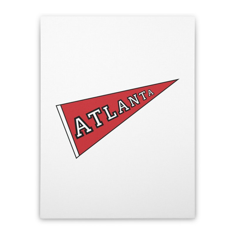 Atlanta Pennant Home Stretched Canvas by ATLBrandBox's Artist Shop