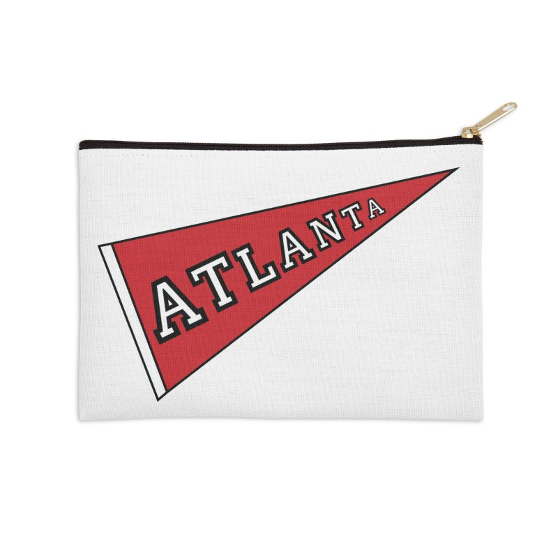 Atlanta Pennant Accessories Zip Pouch by ATLBrandBox's Artist Shop