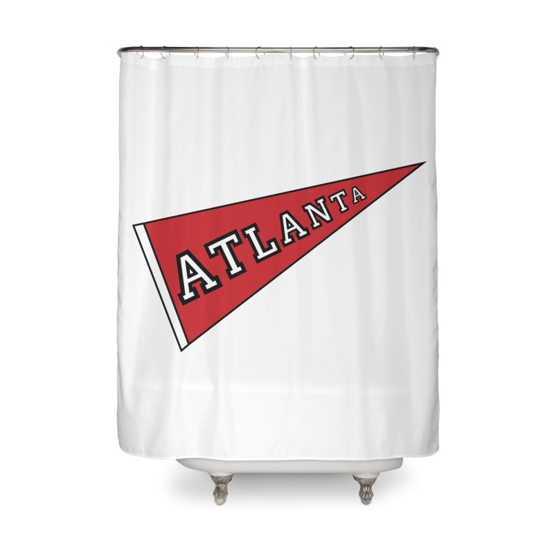 Atlanta Pennant Home Shower Curtain by ATLBrandBox's Artist Shop