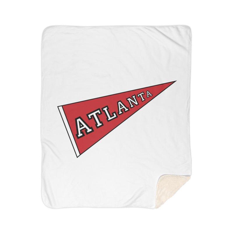 Atlanta Pennant Home Sherpa Blanket Blanket by ATLBrandBox's Artist Shop