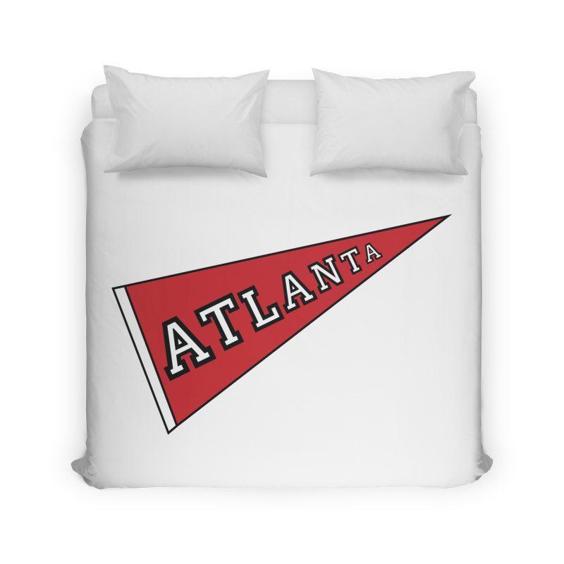 Atlanta Pennant Home Duvet by ATLBrandBox's Artist Shop
