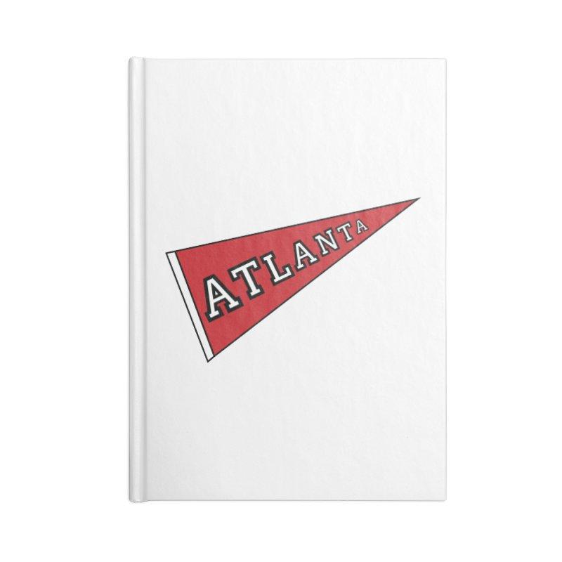 Atlanta Pennant Accessories Lined Journal Notebook by ATLBrandBox's Artist Shop