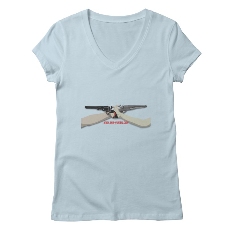 """Dueling Personalities"" (No Text Version) Women's Regular V-Neck by The Ann William Fiction Writer(s) Artist Shop"