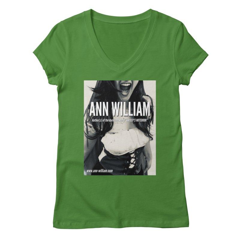 Screaming Krissy 2 Women's Regular V-Neck by The Ann William Fiction Writer(s) Artist Shop