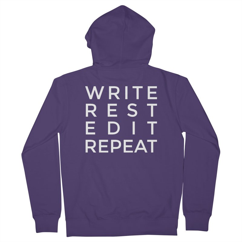 Write Rest Edit Repeat Women's Zip-Up Hoody by Shop As You Wish Publishing
