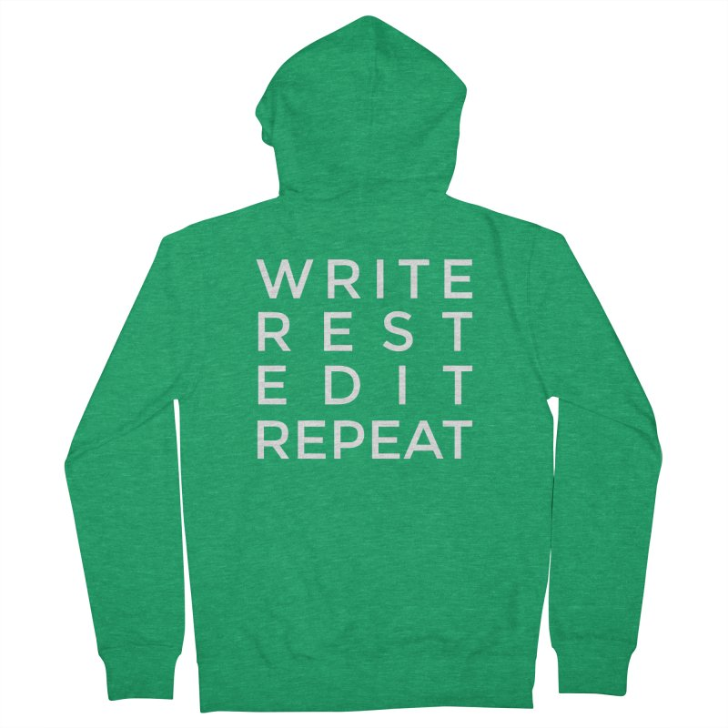 Write Rest Edit Repeat Men's Zip-Up Hoody by Shop As You Wish Publishing