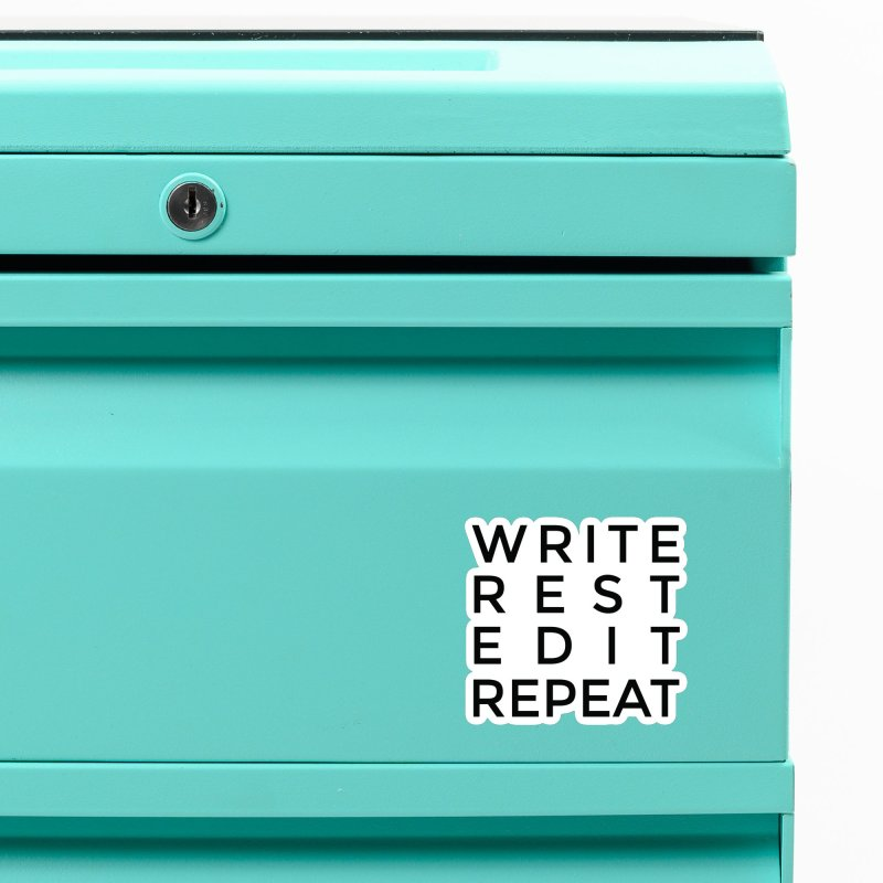 Write Rest Edit Repeat B Accessories Magnet by Shop As You Wish Publishing