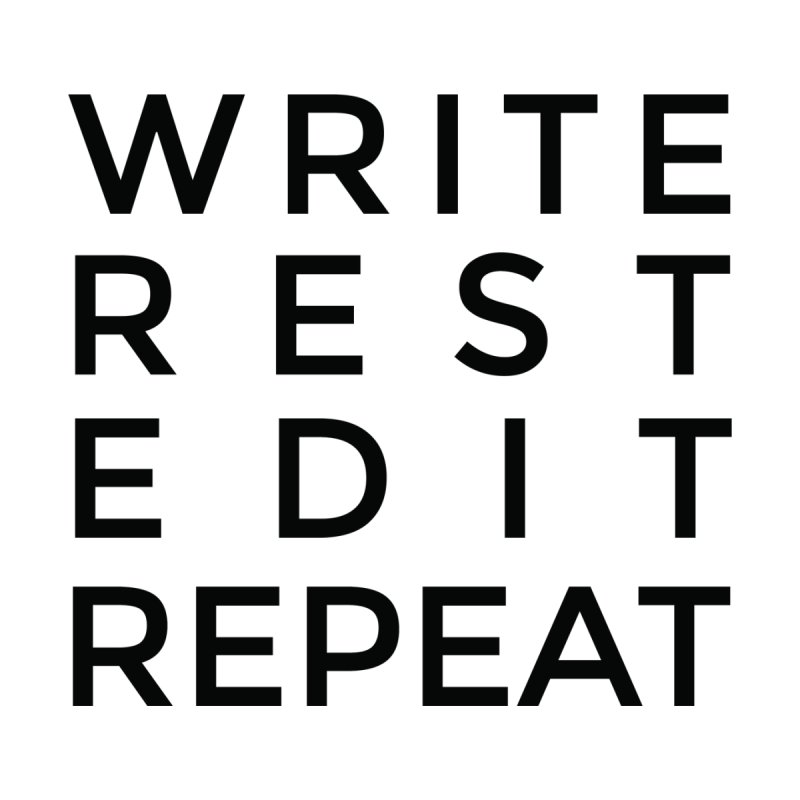 Write Rest Edit Repeat B Men's T-Shirt by Shop As You Wish Publishing