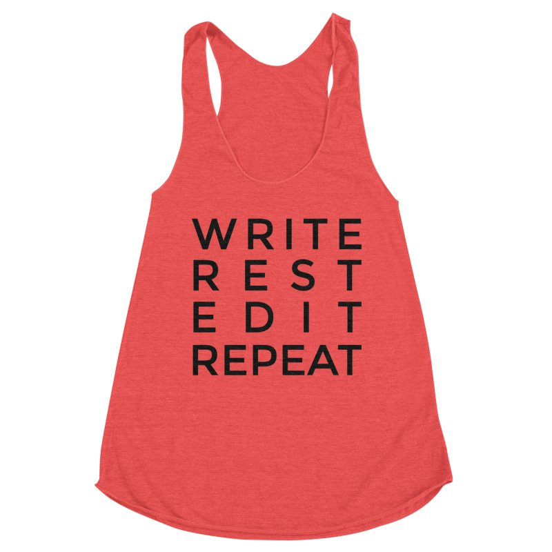 Write Rest Edit Repeat B Women's Tank by Shop As You Wish Publishing