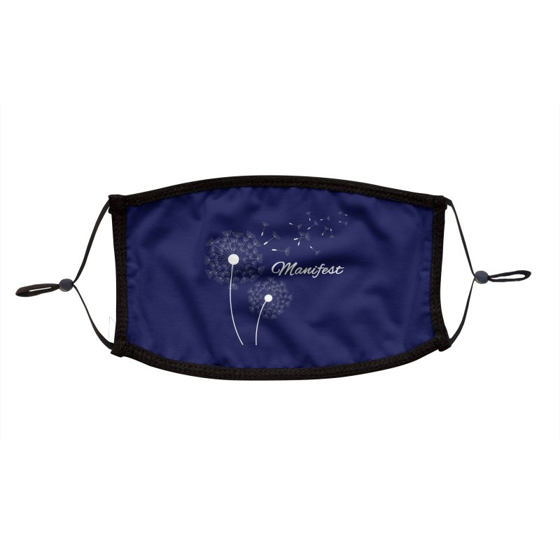 Manifest Blue Accessories Accessories Face Mask by Shop As You Wish Publishing