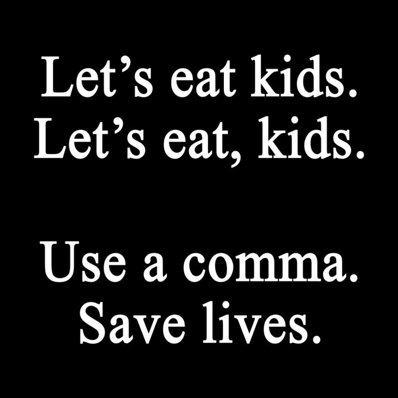 Commas Save Lives Men's T-Shirt by Shop As You Wish Publishing