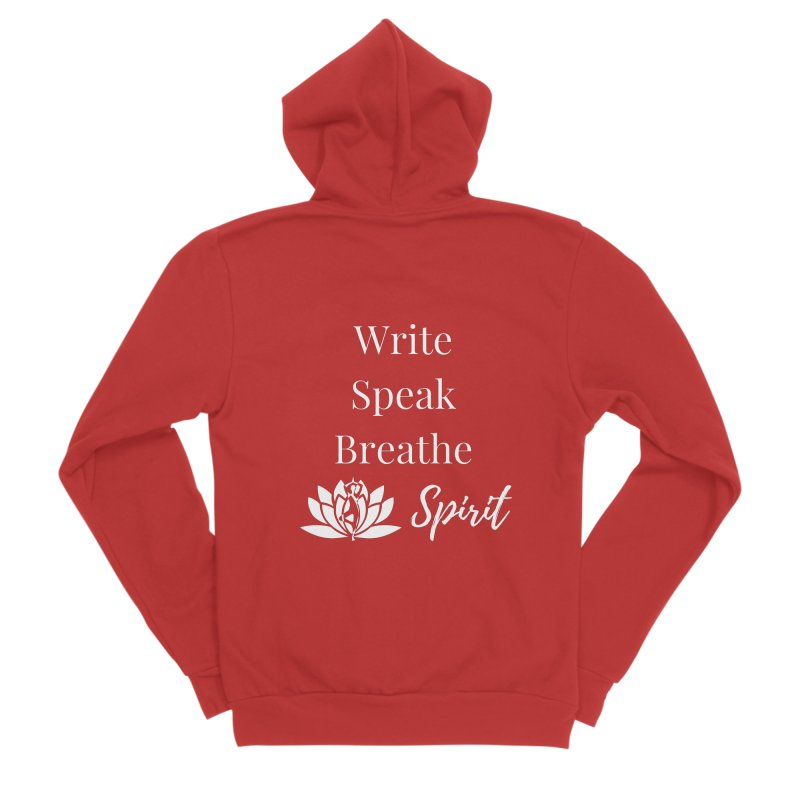 Write Speak Breathe Spirit Men's Zip-Up Hoody by Shop As You Wish Publishing
