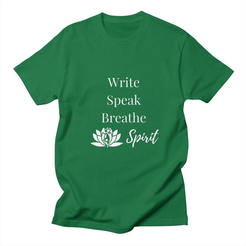 Write Speak Breathe Spirit Men's T-Shirt by Shop As You Wish Publishing
