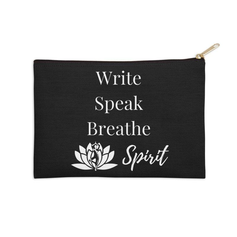 Write Speak Breathe Spirit Accessories Zip Pouch by Shop As You Wish Publishing
