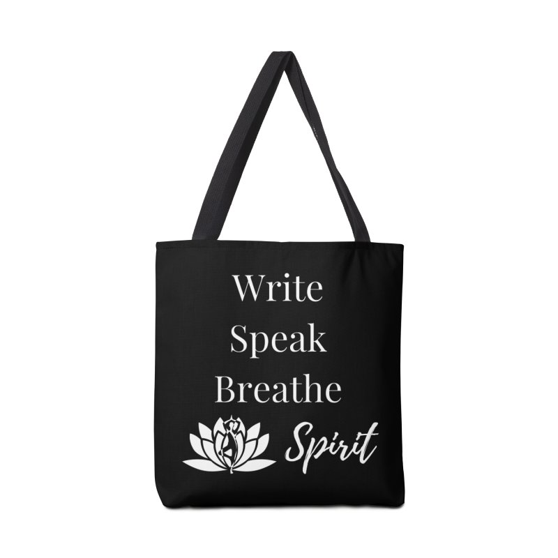 Write Speak Breathe Spirit Accessories Bag by Shop As You Wish Publishing