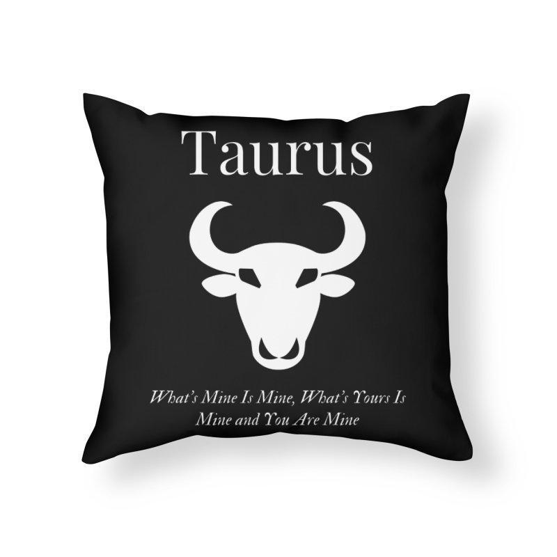 Taurus Home Throw Pillow by Shop As You Wish Publishing