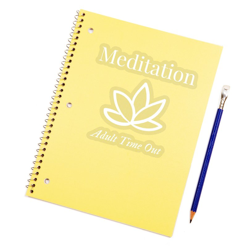 Meditation Adult Time Out Accessories Sticker by Shop As You Wish Publishing